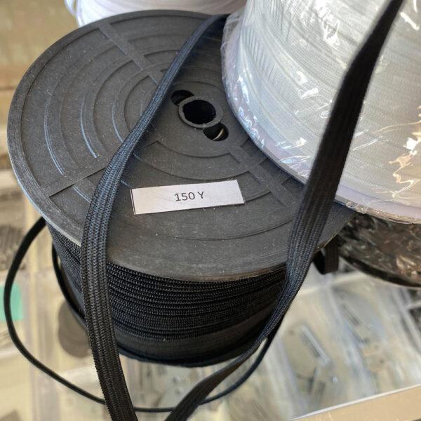 Rouleau d'élastique noir 6mm de 150 verges